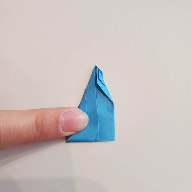 「朝顔(あさがお)のつぼみの折り紙 簡単な作り方折り方」(22)