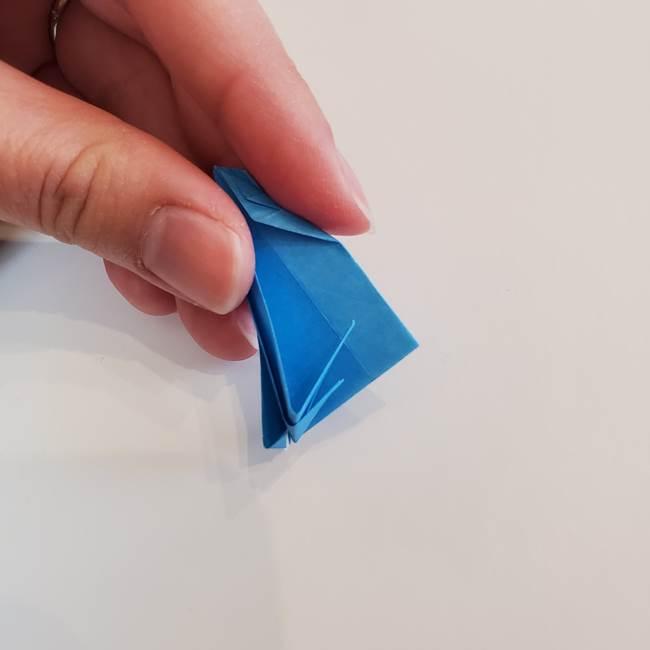 「朝顔(あさがお)のつぼみの折り紙 簡単な作り方折り方」(23)