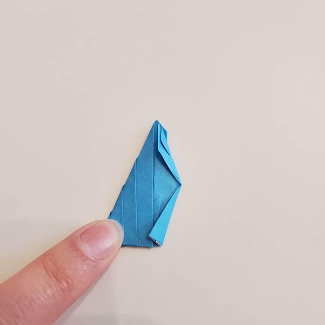「朝顔(あさがお)のつぼみの折り紙 簡単な作り方折り方」(25)