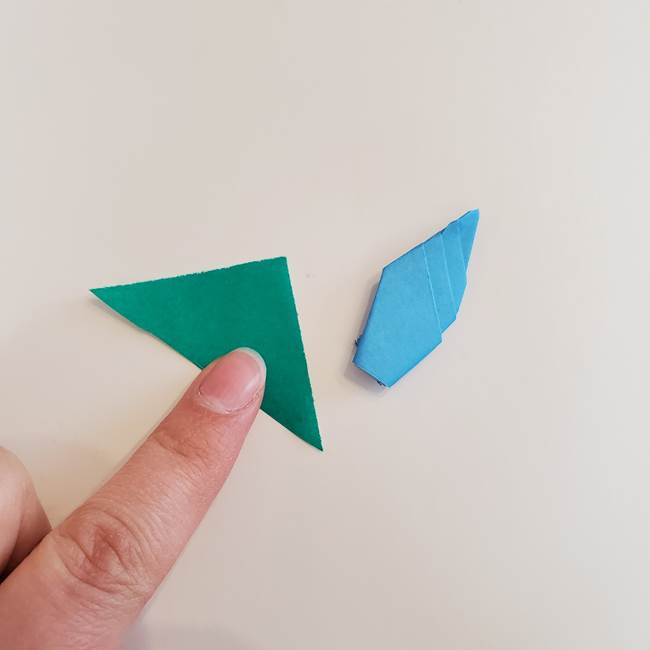 「朝顔(あさがお)のつぼみの折り紙 簡単な作り方折り方」(29)