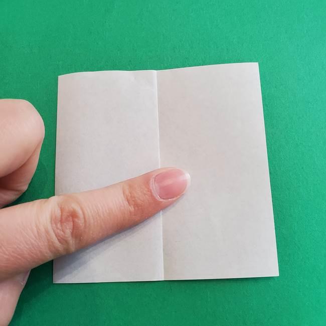 「朝顔(あさがお)のつぼみの折り紙 簡単な作り方折り方」(3)