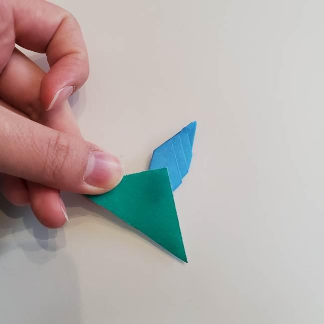 「朝顔(あさがお)のつぼみの折り紙 簡単な作り方折り方」(30)