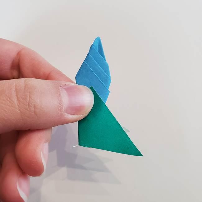 「朝顔(あさがお)のつぼみの折り紙 簡単な作り方折り方」(31)