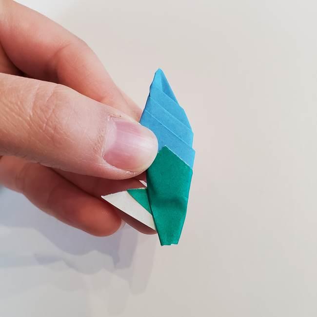 「朝顔(あさがお)のつぼみの折り紙 簡単な作り方折り方」(32)