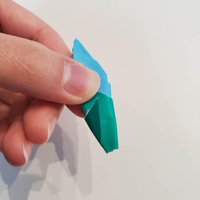 「朝顔(あさがお)のつぼみの折り紙 簡単な作り方折り方」(33)