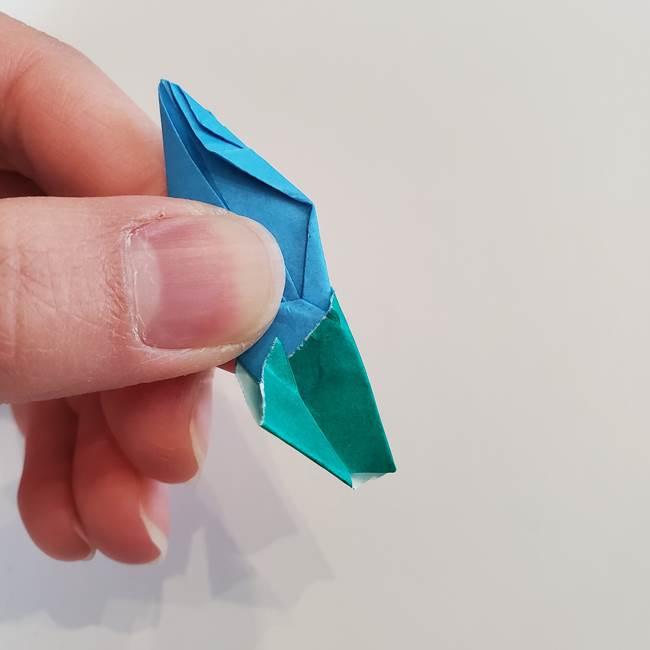 「朝顔(あさがお)のつぼみの折り紙 簡単な作り方折り方」(34)