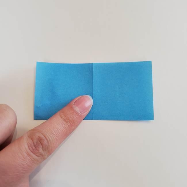 「朝顔(あさがお)のつぼみの折り紙 簡単な作り方折り方」(4)