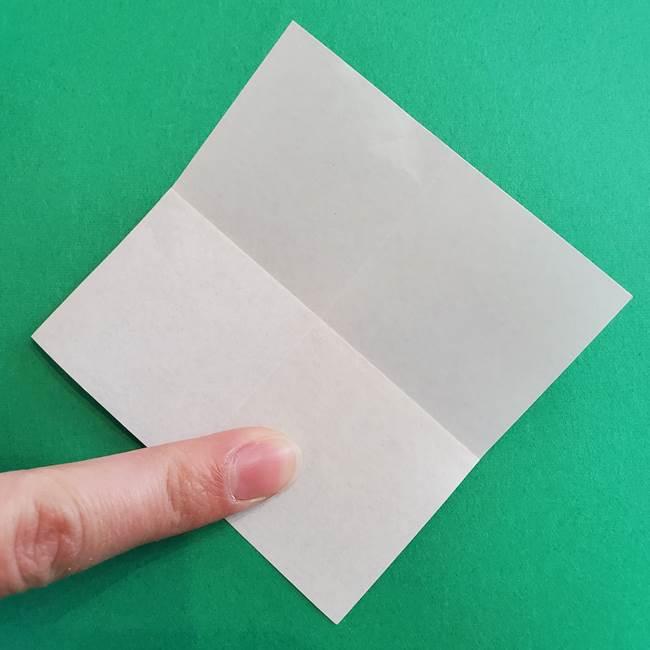 「朝顔(あさがお)のつぼみの折り紙 簡単な作り方折り方」(5)