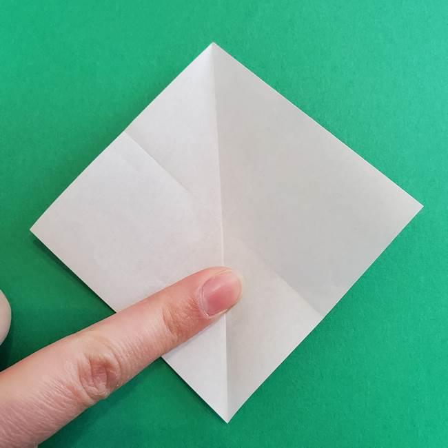 「朝顔(あさがお)のつぼみの折り紙 簡単な作り方折り方」(7)