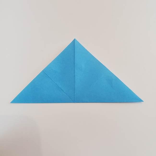 「朝顔(あさがお)のつぼみの折り紙 簡単な作り方折り方」(8)