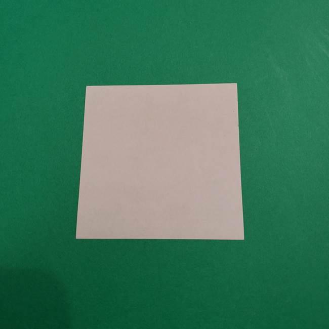 あかざの折り紙 体の作り方(1)