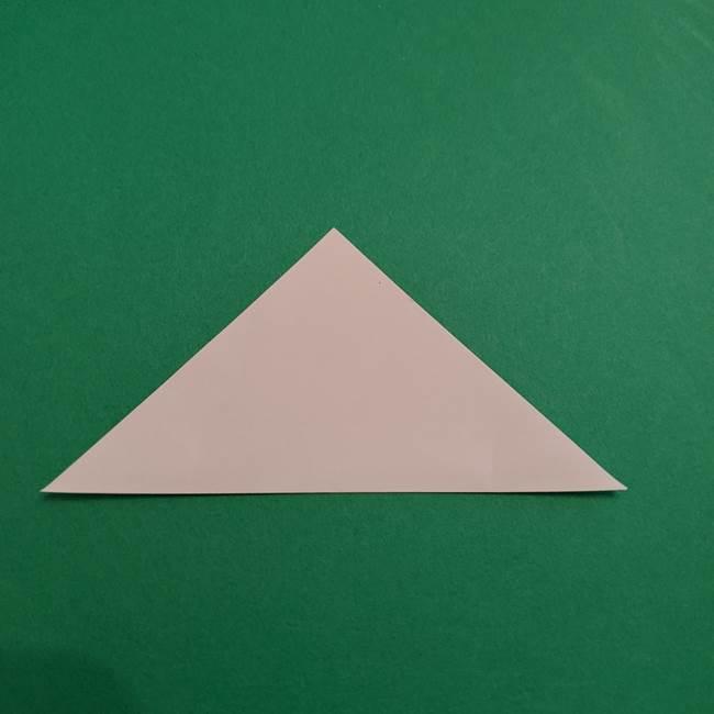 あかざの折り紙 体の作り方(2)