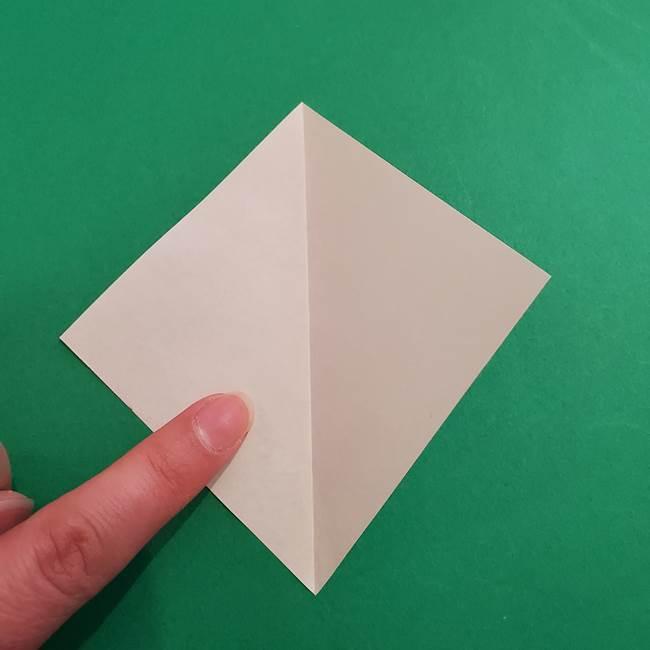 あかざの折り紙 体の作り方(3)