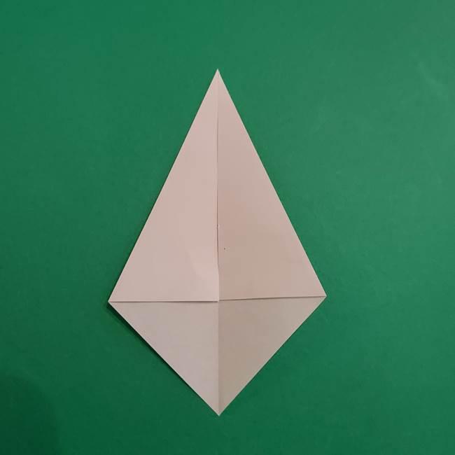 あかざの折り紙 体の作り方(4)