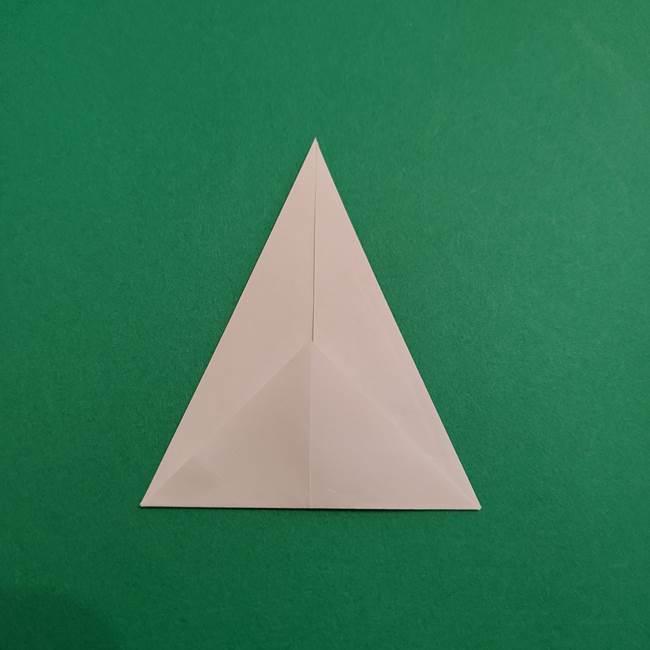 あかざの折り紙 体の作り方(5)