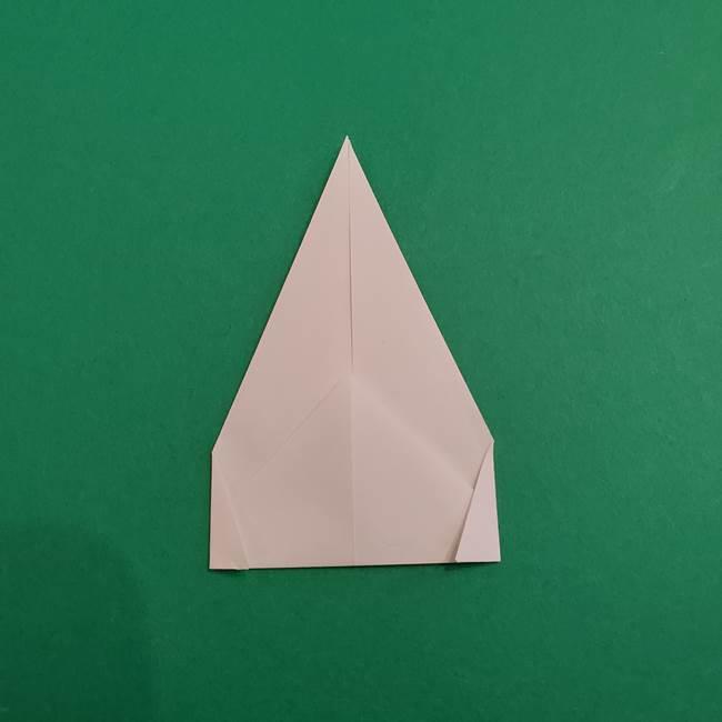 あかざの折り紙 体の作り方(6)