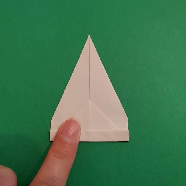 あかざの折り紙 体の作り方(7)