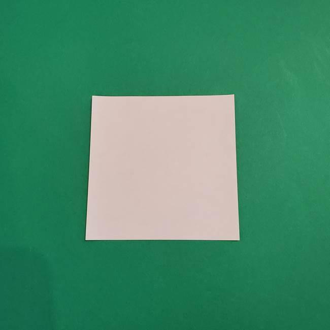あかざの折り紙 顔の作り方(1)