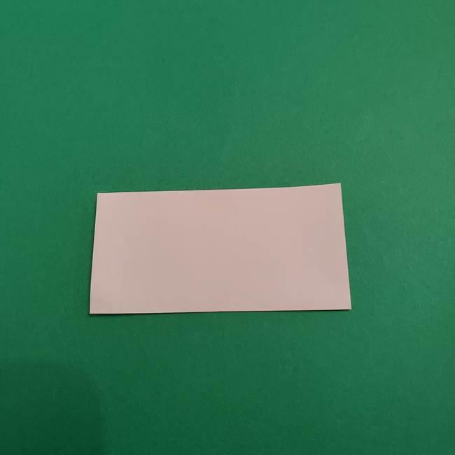 あかざの折り紙 顔の作り方(2)