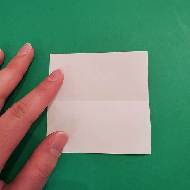 あかざの折り紙 顔の作り方(3)