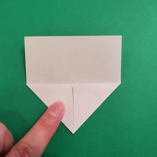 あかざの折り紙 顔の作り方(4)