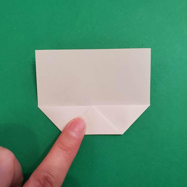 あかざの折り紙 顔の作り方(5)