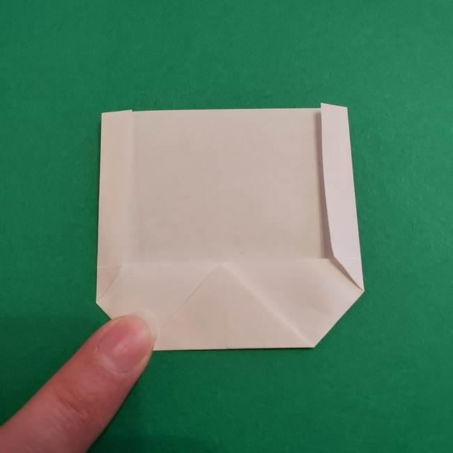 あかざの折り紙 顔の作り方(6)