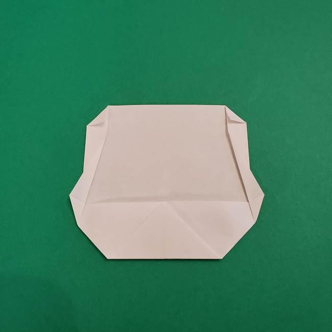 あかざの折り紙 顔の作り方(8)