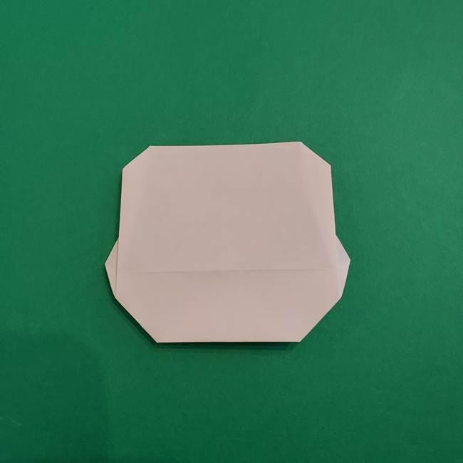 あかざの折り紙 顔の作り方(9)