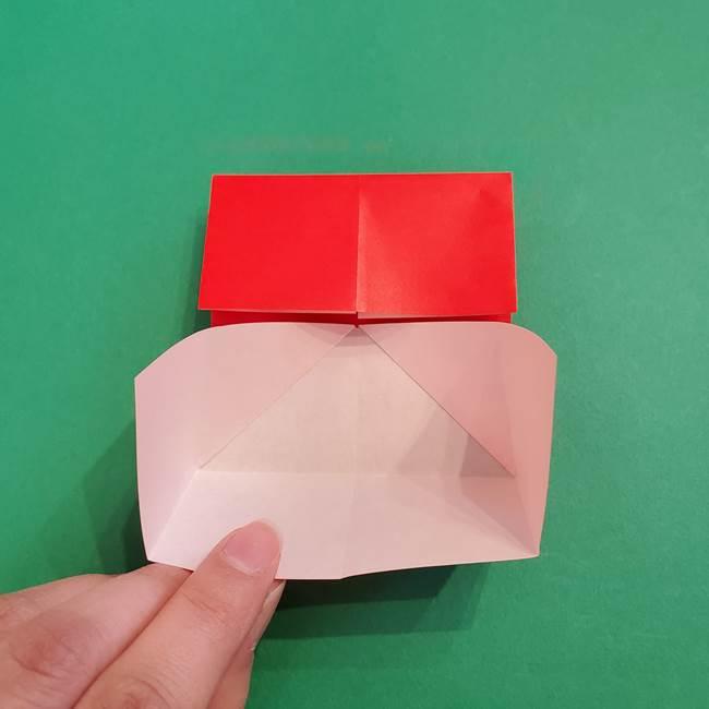 あかざの折り紙 髪の作り方(10)