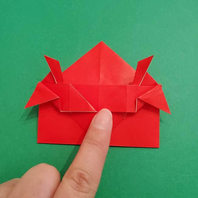 あかざの折り紙 髪の作り方(27)