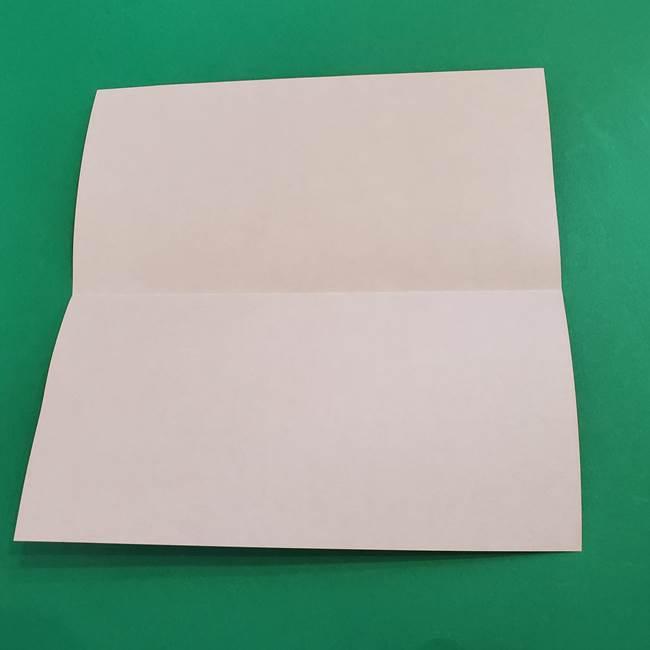 あかざの折り紙 髪の作り方(3)
