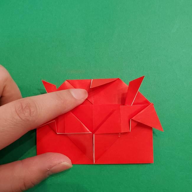 あかざの折り紙 髪の作り方(30)