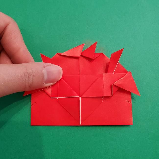 あかざの折り紙 髪の作り方(32)