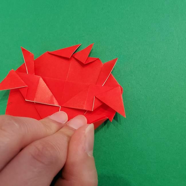 あかざの折り紙 髪の作り方(33)