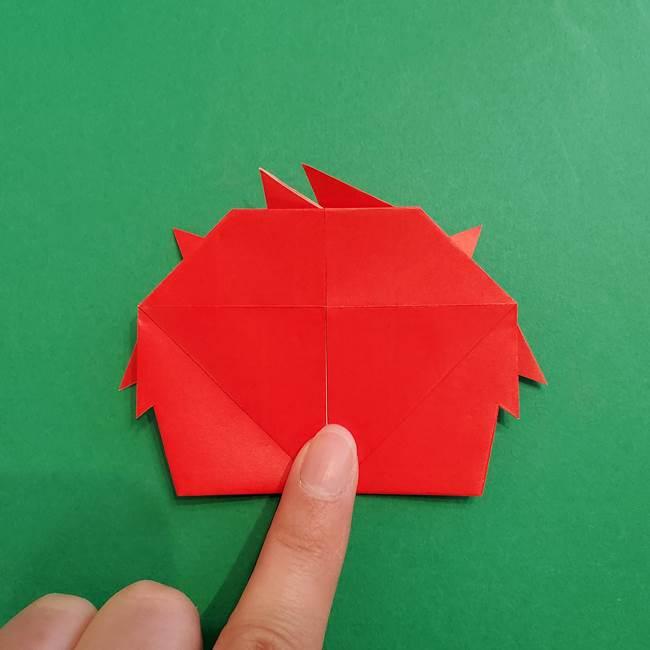 あかざの折り紙 髪の作り方(35)