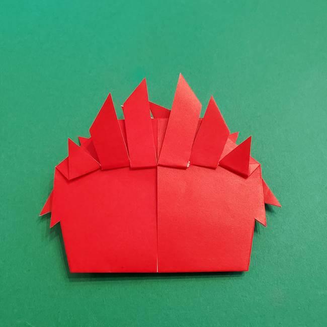 あかざの折り紙 髪の作り方(38)