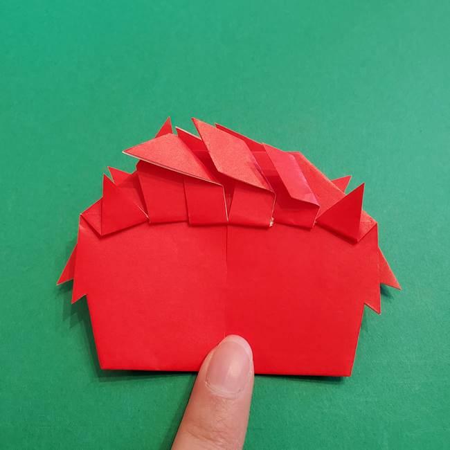 あかざの折り紙 髪の作り方(39)