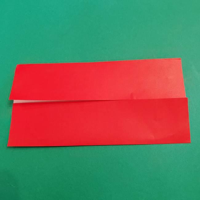 あかざの折り紙 髪の作り方(4)