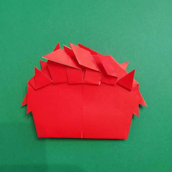 あかざの折り紙 髪の作り方(40)