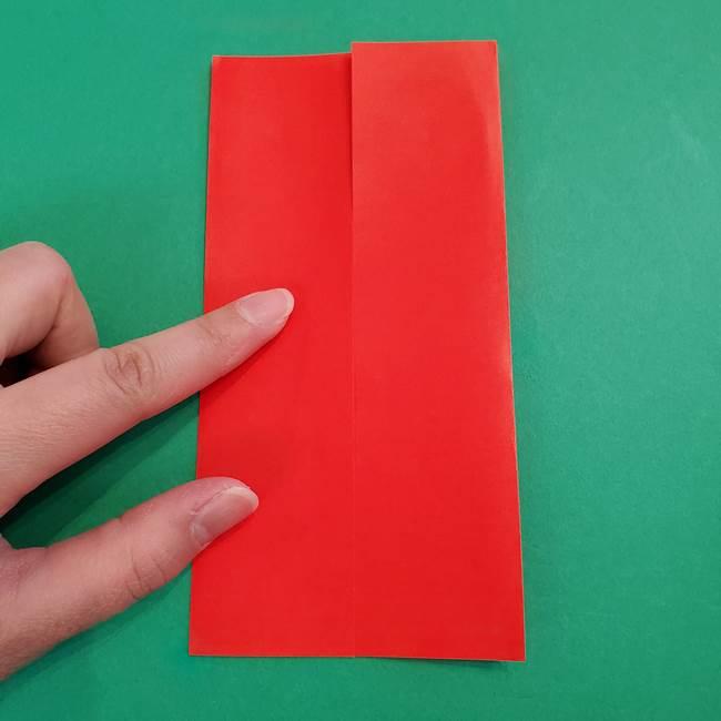 あかざの折り紙 髪の作り方(5)