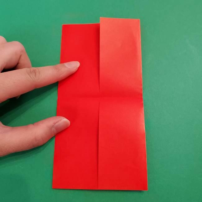 あかざの折り紙 髪の作り方(7)