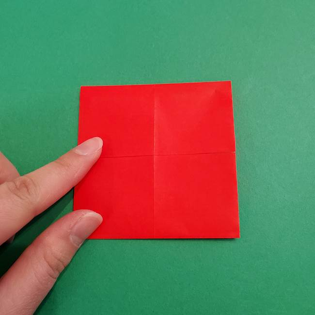 あかざの折り紙 髪の作り方(8)