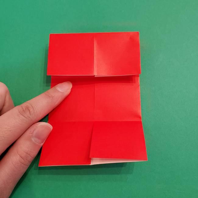 あかざの折り紙 髪の作り方(9)