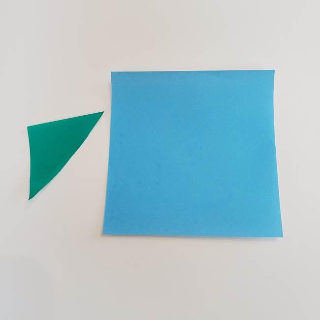 あさがおのつぼみの折り紙*用意するもの(1)