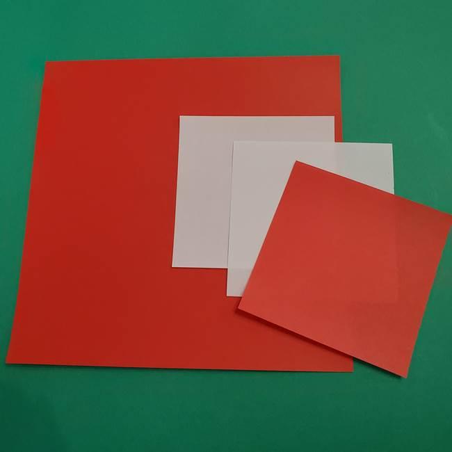 きめつの刃の折り紙 あかざ(猗窩座)*用意するもの(1)