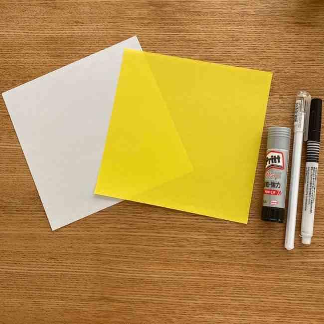 ぐでたまの折り紙の作り方*用意するもの