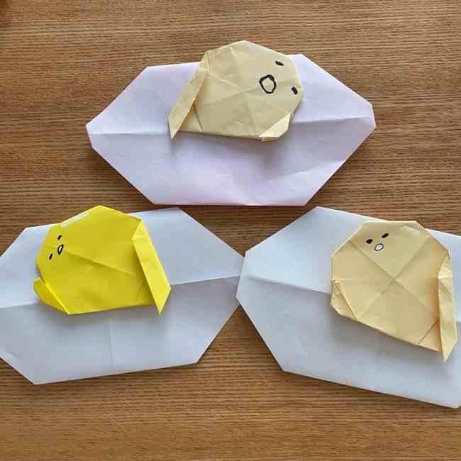 ぐでたまを折り紙で簡単手作り★やる気のなさがかわいいキャラ