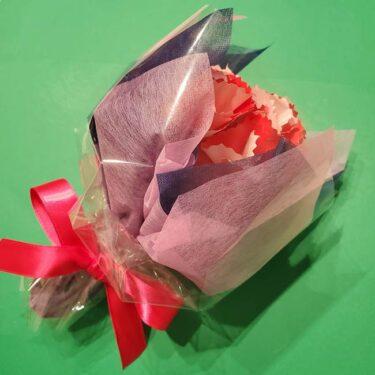 折り紙で母の日用の難しいカーネーションの立体花束の作り方★本気で作りたい大人向け
