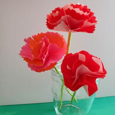 カーネーションの折り紙は本格的でリアル!おしゃれで可愛い花の作り方